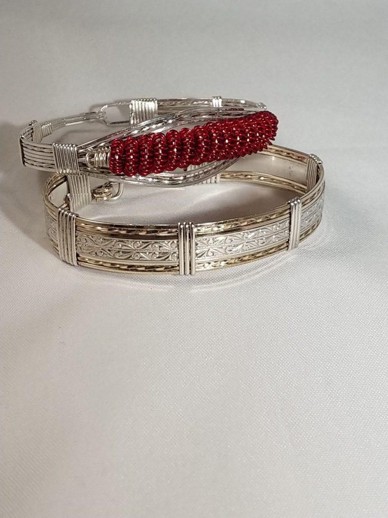 Silver Wire Bracelets Bev Potty