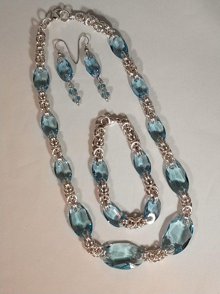 Silver and Swarovski Crystal Set Bev Potty